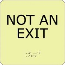 Not An Exit Glow Office ADA Sign (#GADA112BK)