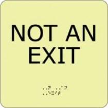 Not An Exit Glow Office ADA Sign (#GADA112BK)