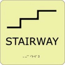 Stairway Glow Office ADA Sign (#GADA113BK)
