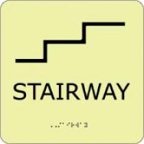 Stairway Glow Office ADA Sign (#GADA113BK)
