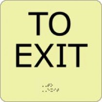 To Exit Glow Office ADA Sign (#GADA114BK)