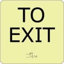To Exit Glow Office ADA Sign (#GADA114BK)