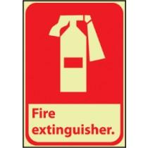 Fire Extinguisher Glow Sign (#GFGA3)
