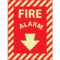 Fire Alarm Glow Sign (#GL11)