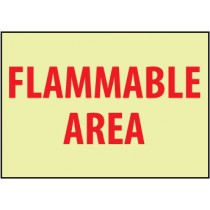 Flammable Area Glow Sign (#GL125)