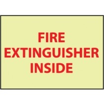 Fire Extinguisher Inside Glow Sign (#GL134P)