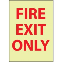 Fire Exit Only Glow Sign (#GL139)