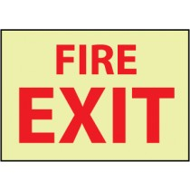 Fire Exit Glow Sign (#GL140)