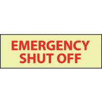 Emergency Shut Off Glow Sign (#GL145)