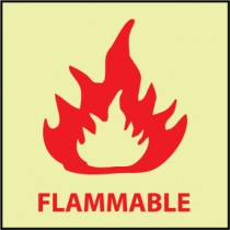 Flammable Glow Sign (#GL152)