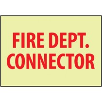 Fire Dept. Connector Glow Sign (#GL155)