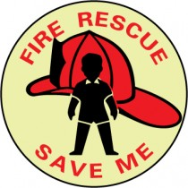 Fire Rescue Save Me Glow Sign (#GL159P)
