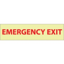 Emergency Exit Glow Sign (#GL19)