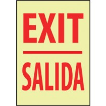 Exit Spanish Glow Sign (#GL30)