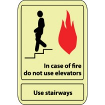In case of fire do not use elevators Use the stairways Sign (#GL34)