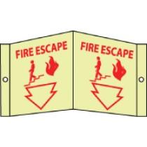 Fire Escape Glow Visi-Sign (#GLV29)