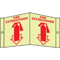 Fire Extinguisher Glow Visi-Sign (#GLV30)