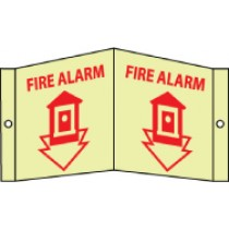 Fire Alarm Glow Visi-Sign (#GLV3)