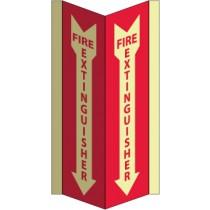 Fire Extinguiser Glow Visi-Sign (#GLV42)