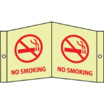 No Smoking Glow Visi-Sign (#GLV9)