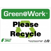 Please Recycle Going Green Sign (#GW1009)