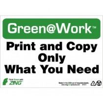Print And Copy Only What You Need Going Green Sign (#GW1014)