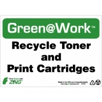 Recycle Toner And Print Cartridges Going Green Sign (#GW1016)