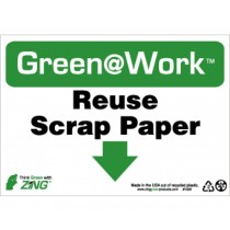Reuse Scrap Paper Going Green Sign (#GW1020)