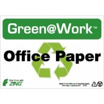 Office Paper Going Green Sign (#GW1021)