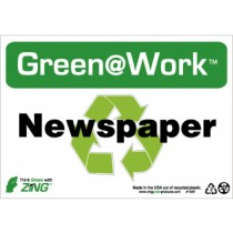 Newspaper Going Green Sign (#GW1022)