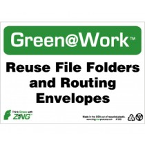 Reuse File Folders And Routing Envelopes Going Green Sign (#GW1023)