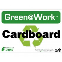 Cardboard Going Green Sign (#GW1024)