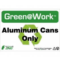 Aluminum Cans Only Going Green Sign (#GW1028)