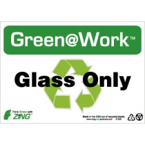 Glass Only Going Green Sign (#GW1030)