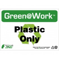 Plastic Only Going Green Sign (#GW1031)