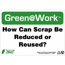 How Can Scrap Be Reduced Or Reused? Going Green Sign (#GW1035)