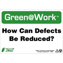 How Can Defects Be Reduced? Going Green Sign (#GW1036)
