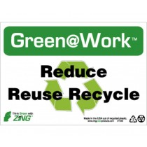 Reduce Reuse Recycle Going Green Sign (#GW1040)