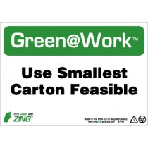 Use Smallest Carton Feasible Going Green Sign (#GW1043)