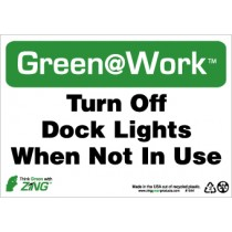 Turn Off Dock Lights When Not In Use Going Green Sign (#GW1044)