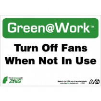 Turn Off Fans When Not In Use Going Green Sign (#GW1045)