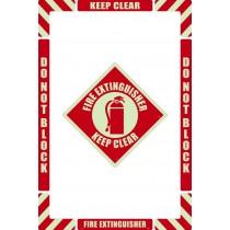 Fire Extinguisher Floor Marking Kit (Glow)