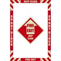 Fire Exit Floor Marking Kit (Glow)