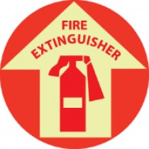 Fire Extinguisher Glow Walk-On Floor Sign (#GWFS10)