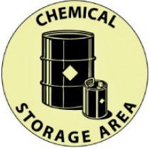 Chemical Storage Area Glow Walk-On Floor Sign (#GWFS19)