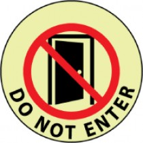 Do Not Enter Glow Walk-On Floor Sign (#GWFS24)