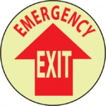 Emergency Exit Glow Walk-On Floor Sign (#GFWS25)