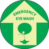 Emergency Eye Wash Glow Walk-On Floor Sign (#GFWS5)