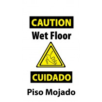 Caution Wet Floor (Bilingual) Heavy Duty Floor Stand (#HDFS201)