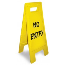 Caution No Entry Heavy Duty Floor Stand (#HDFS205)